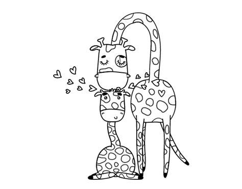 imagenes de jirafas tiernas para dibujar dibujo de mam 225 jirafa para colorear dibujos net