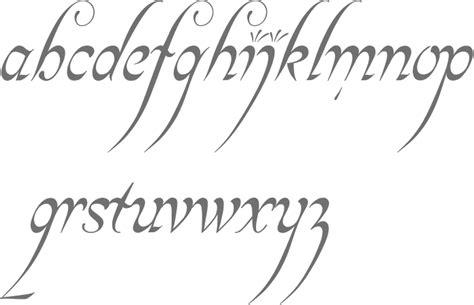 tattoo fonts elvish elvish style font my style