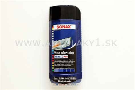 Sonax And Wax 3 Nano Pro sonax wax color nano pro modr 225 500ml