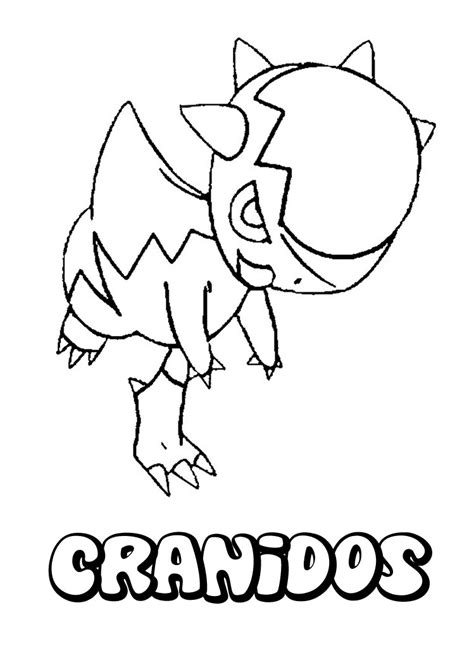 pokemon coloring pages geodude cranidos zum ausmalen zum ausmalen de hellokids com