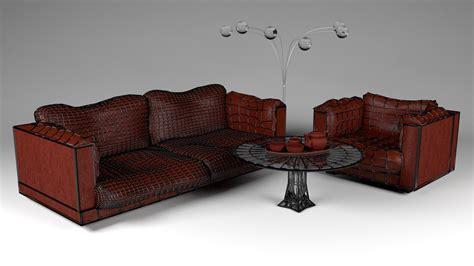 sofa and armchair set sofa and armchair set 3d model obj 3ds fbx blend dae x3d