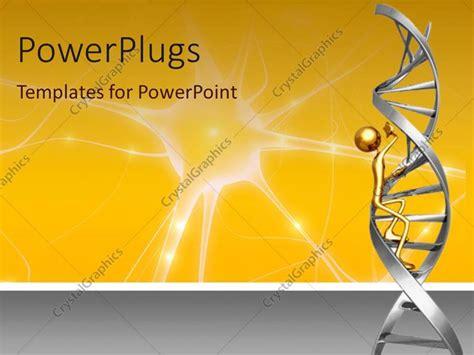 golden powerpoint themes powerpoint template 3d representation of golden figure