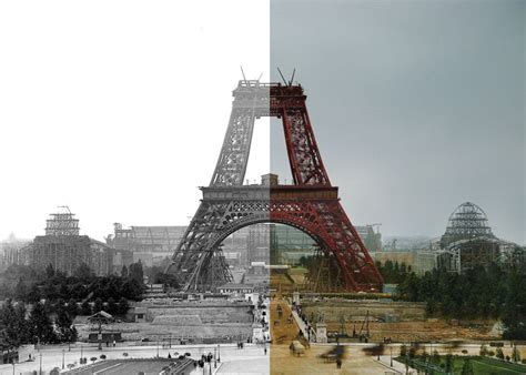 eiffel tower color paper time machine landmarks like tower bridge and the