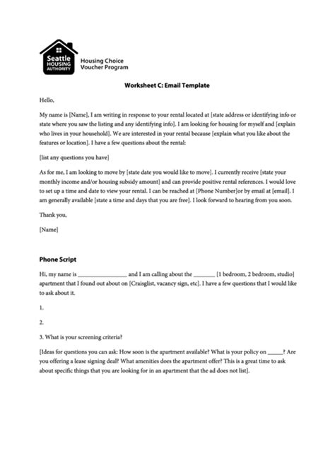 Rental Inquiry Email Template Printable Pdf Download Apartment Inquiry Template