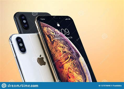 iphone xs gold silver and space grey on light colors editorial image image of corporate