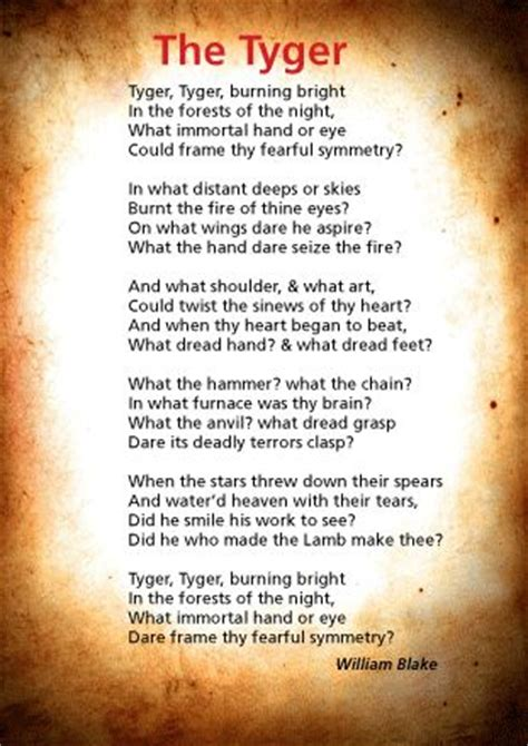 through poetry in written english and british sign language bsl the tyger william blake and then they said