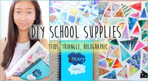 Diy Bedroom Decorating Ideas For Teens diy tumblr school supplies tfios triangle holographic