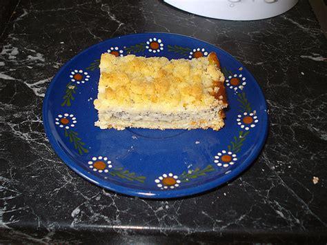 mohn vanille kuchen vanille mohn kuchen mit streusel semmerl chefkoch de
