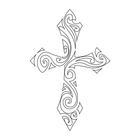 cross tattoo template free tribal cross stencil crosses stencils