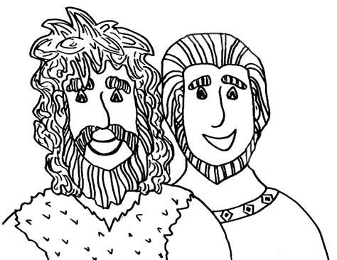 coloring page jacob and esau picture of jacob and esau coloring page bible