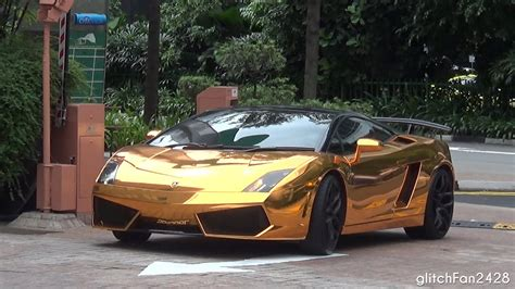 gold chrome lamborghini lamborghini gallardo gold chrome pixshark com