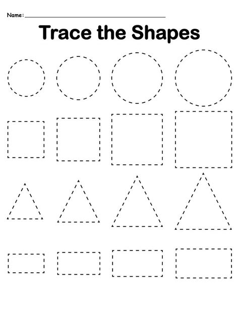 Free Printable Tracing Worksheets
