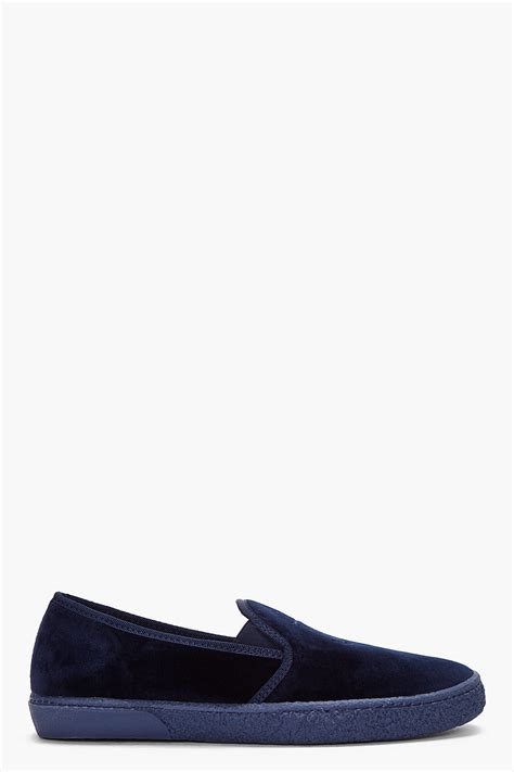 apc loafers a p c navy anchor loafers in blue for navy