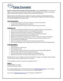 Summer Resume Exles by C Counselor Resume Getessay Biz