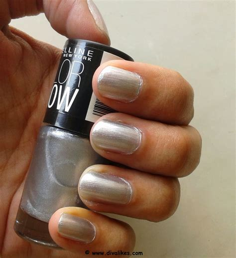 Maybelline Nail maybelline color show nail lacquer silver linings 007