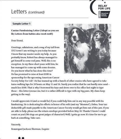 Hilarious Fundraising Letter 33 Best Images About Bark For On Fundraising Letter Barking And Relay For