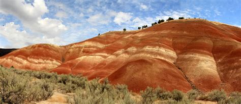 john day fossil beds national monument stitched shot of the painted hills near john day fossil