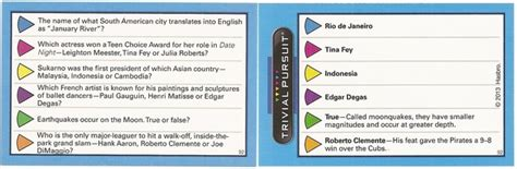 trivial pursuit question card template trivia questions cards www pixshark images