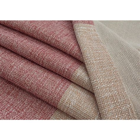 pink and beige curtains thcik linen cotton pink beige brown striped curtains