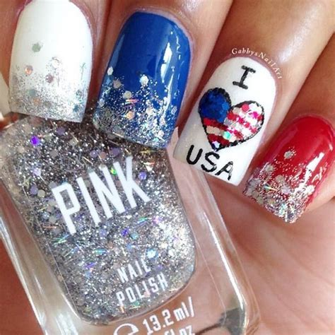 Nails Design Usa   192 best images about fourth of july patriotic nail