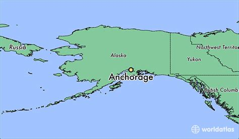 where is alaska on a map where is anchorage ak anchorage alaska map