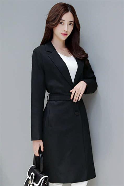 Jaket Wanita Black Import coat wanita korea black windbreaker coat jyw3383