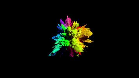 color powder color powder explosion cg animation of color powder