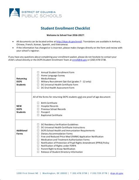 student checklist template 19 student checklist sles templates free word pdf
