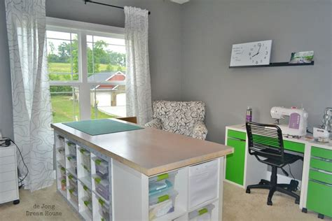 ikea hack craft room craft tables with storage attempting to organize your creativity