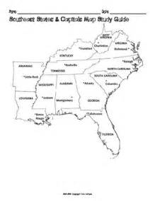 us map with capitals and regions us southeast region states capitals maps by mrslefave tpt