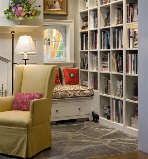 Reading nook essentials modern literary storage ideas