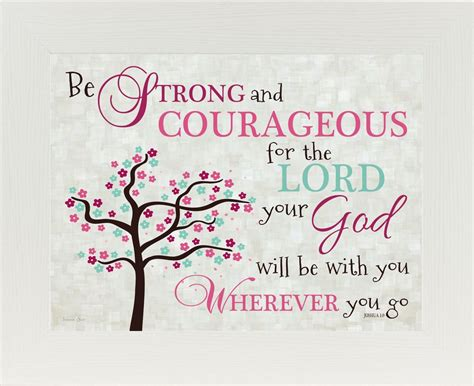 Be strong and courageous pink ss9936 summer snow art