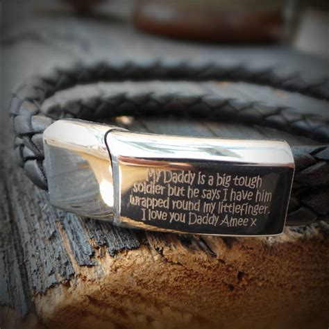 s personalised engraved message bracelet by