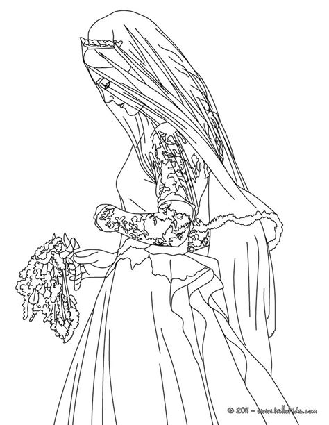 bride kate middleton coloring pages hellokids com