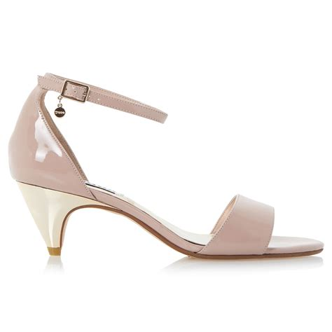 blush colored sandals lyst dune marina kitten heel two part sandals in pink