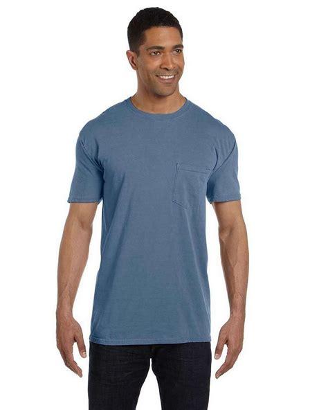 blue jean comfort colors comfort colors 6030cc garment dyed pocket t shirt