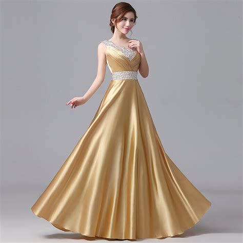 new latest design of gaun popular gold satin gowns buy cheap gold satin gowns lots
