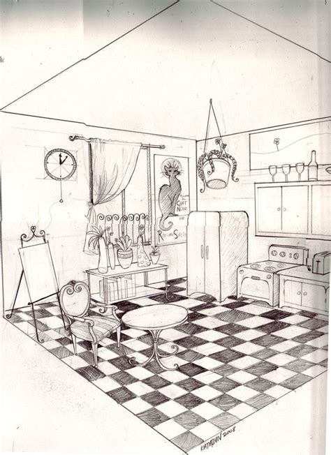 room sketch 68 best images about two point perspective on pinterest