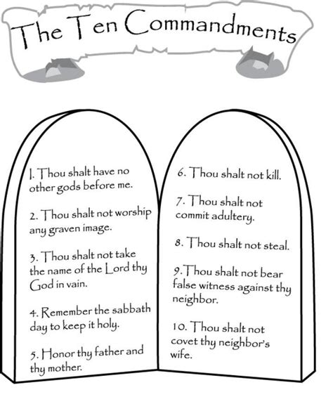 printable coloring pages for ten commandments ten commandments coloring pages coloring home