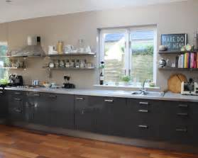 How To Refinish A Cabinet Gray Ikea Cabinets Houzz