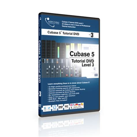 cubase 5 1 tutorial steinberg ask video cubase 5 tutorial dvd level 3 includes offline