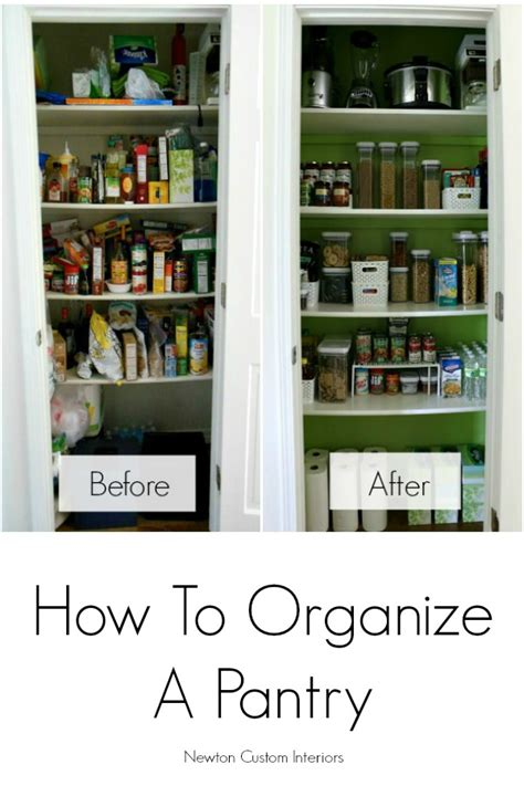 Organizing Small Pantry by How To Organize A Pantry Newton Custom Interiors