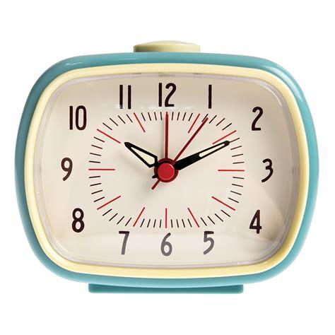 blue retro alarm clock rex london dotcomgiftshop