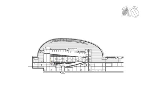 Opera Sections by New Opera In Jinan Paul Andreu Architecte Archdaily