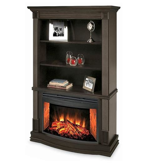 electric fireplace with bookcases clifton bookcase electric fireplace home office