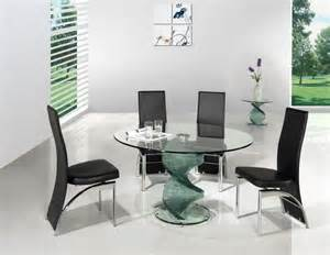 Dining Room Table Black Glass 39 Modern Glass Dining Room Table Ideas