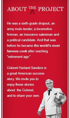 biography of kfc owner colonel sanders kfc people who have persevered