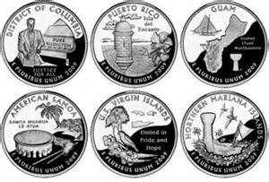 united states map for state quarters 2009 quarter images for dc and us territories coin news