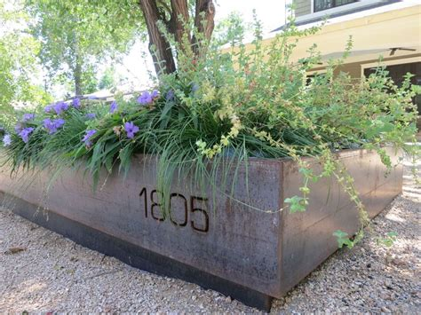 Modern Metal Planters by Custom Modern Steel Planters Railing And Architectural