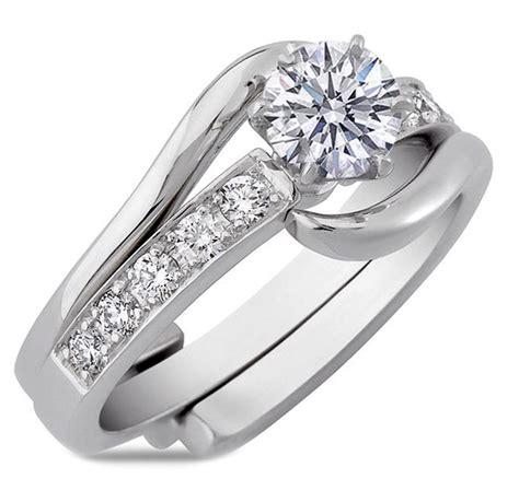 engagement ring interlocking bridal set